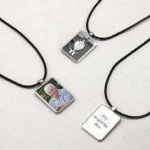 Engraved Memorial Necklace with Photo